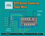 100%N70 keypad connector track