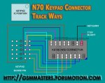 100%N70 keypad connector track