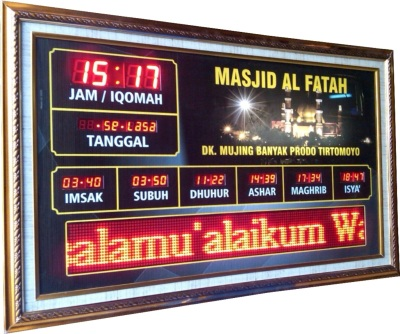 jadwal sholat digital running text