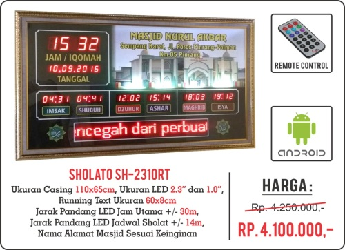 Jadwal Sholat Digital Sholato